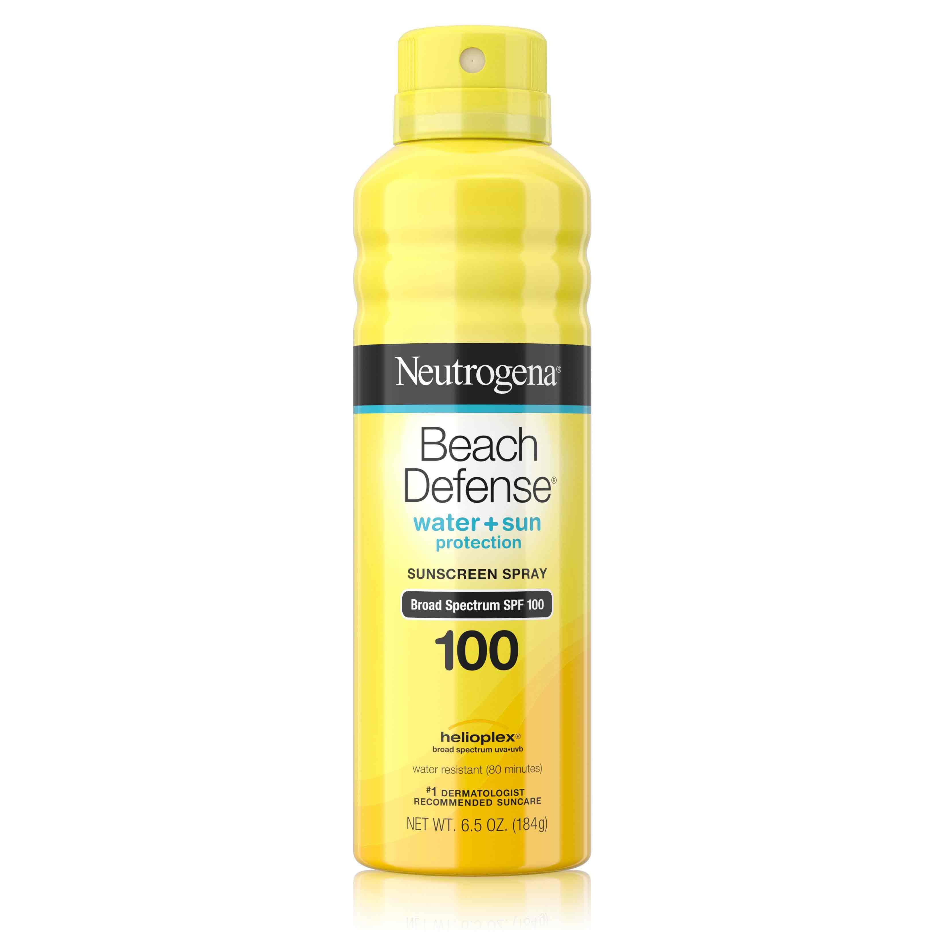 Neutrogena® Beach Defense® Water + Sun Protection Spray Broad Spectrum SPF 100