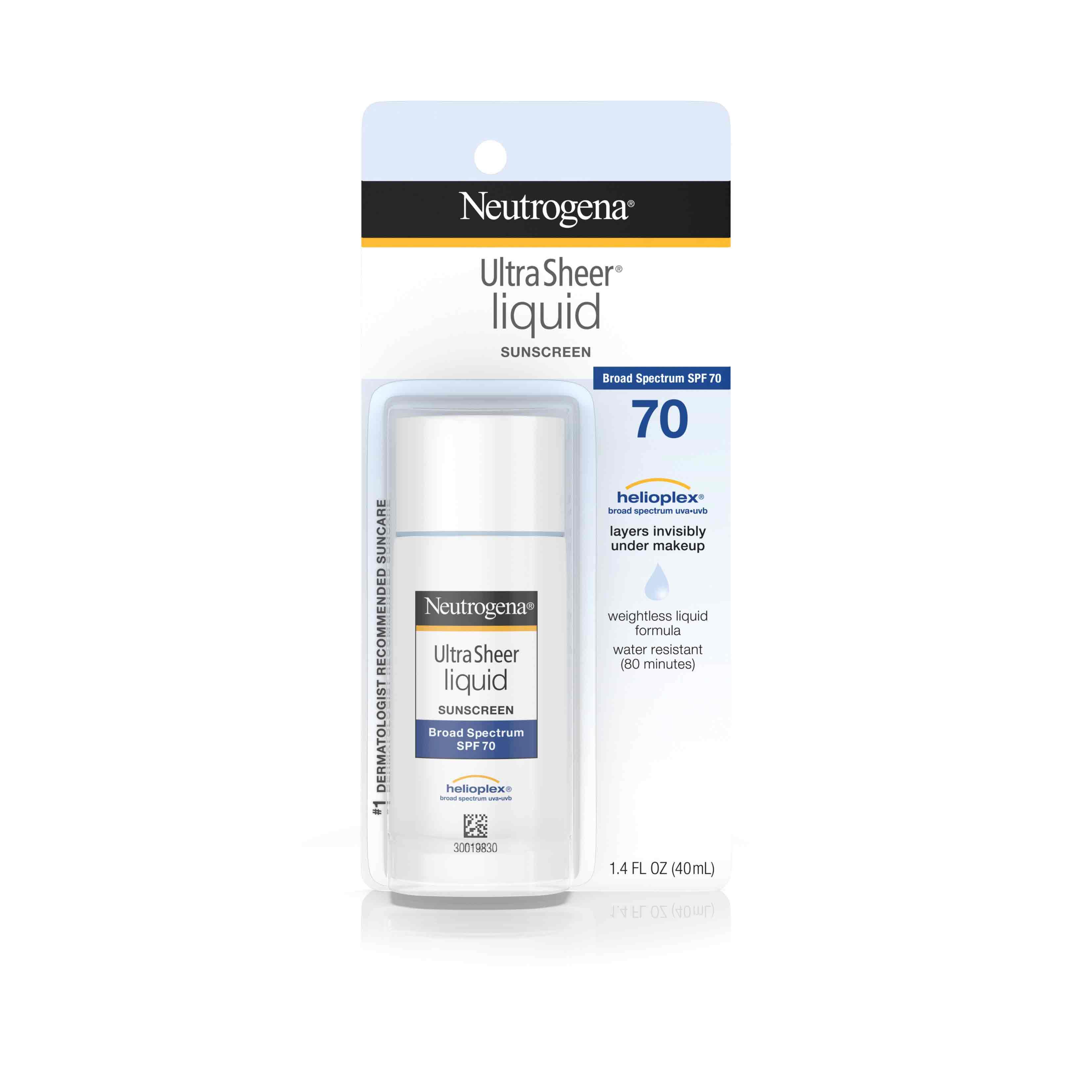 Ultra Sheer® Liquid Sunscreen Broad Spectrum SPF 70