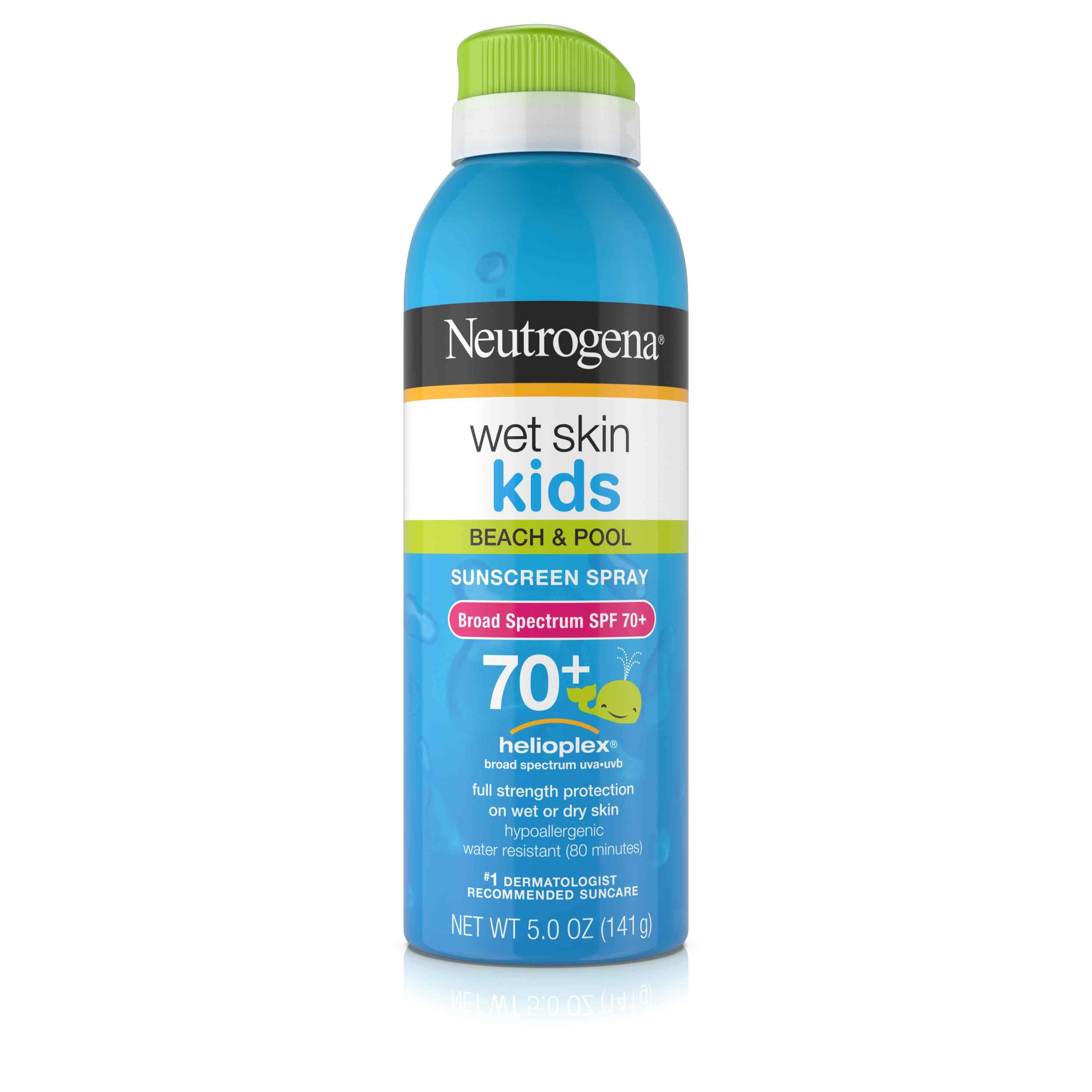 Wet Skin Kids Sunscreen Spray Broad Spectrum SPF 70+